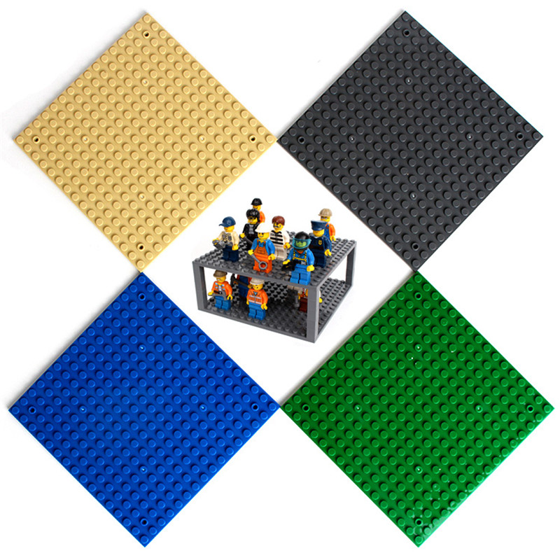 16*16 Dots Legoings Plate Parts Base Plate For Small Bricks Baseplate Board DIY Building Blocks Building Toys For Children 2017 brand new fashion big size 40 40cm blocks diy baseplate with 50 50 dots small bricks base plate green grey blue