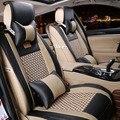Moda couro almofada do assento de carro de seda gelo almofada do assento de carro acessórios do carro mat CGPM