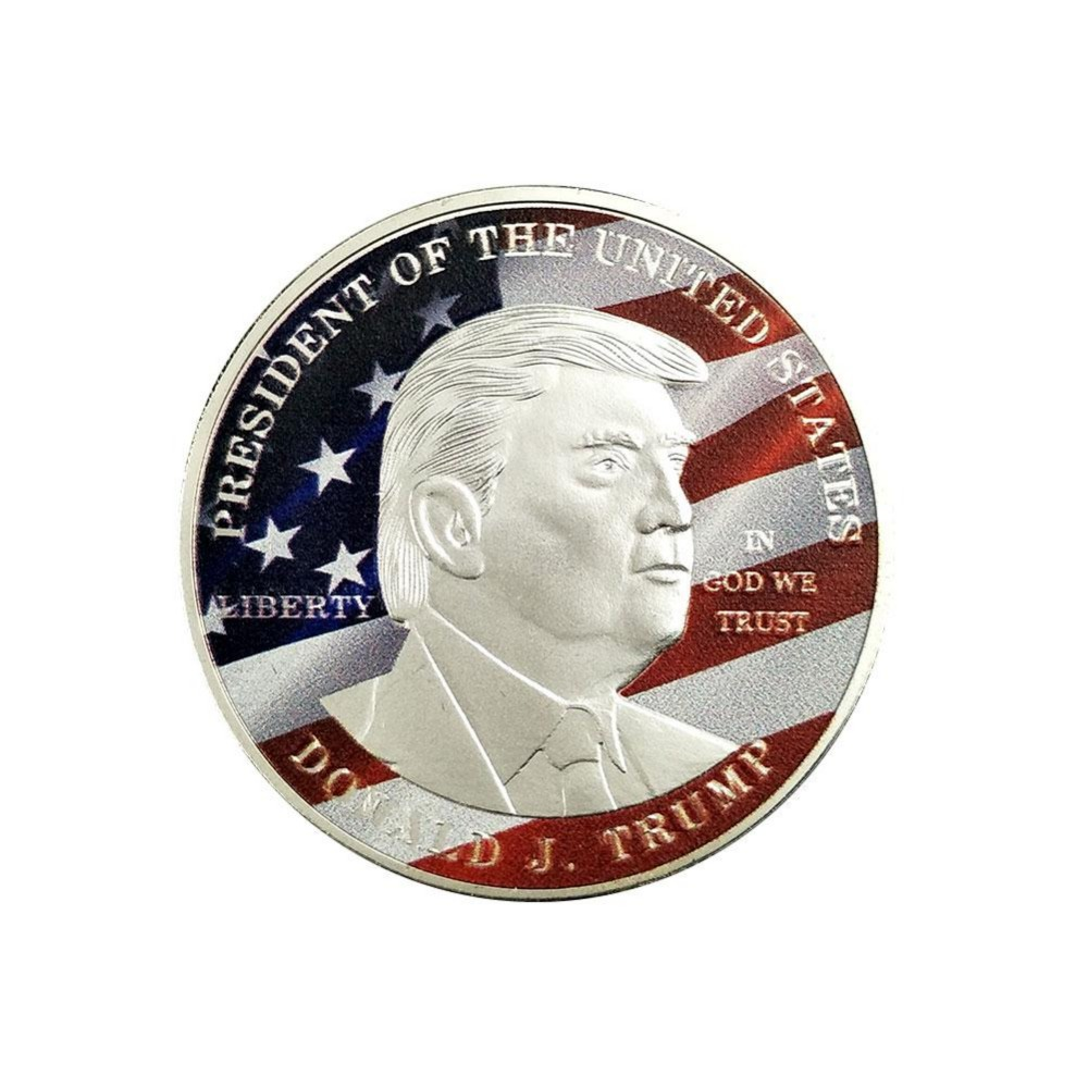 Creative Donald Trump Silver Eagle Flag Coin America Great 45th President Collection Art Coin