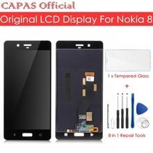 الأصلي لنوكيا 8 شاشة الكريستال السائل لوحة شاشة لمس ل نوكيا 8 LCD شاشة التحويل الرقمي الزجاج لوحة استبدال قطع إصلاح أجزاء