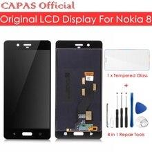 Оригинальный ЖК дисплей для Nokia 8, сенсорный экран, панель для Nokia 8, ЖК экран, дигитайзер, стеклянная панель, замена, запасные части для ремонта