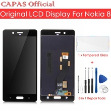 Original For Nokia 8 LCD Display Touch Screen Panel For Nokia 8 LCD Screen Digitizer Glass Panel Replacement Spare Repair Parts