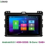 Lenvio 4G 32G Android 8 0 Car Radio DVD GPS Player For Toyota Prado 120 Land