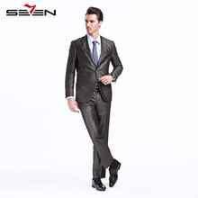 Seven7 Brand Black Fashion Suits Sets (Jacket and Pant) Wedding Men Dress 703C1293