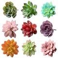Искусственный Мини цветок вечерние партия украшения миниатюрные суккуленты пластиковые растения сад офисный Декор - фото