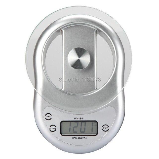 5 KG 1g Elektronische Küchenwaage mit Uhr Countdown Alarmfunktion ...