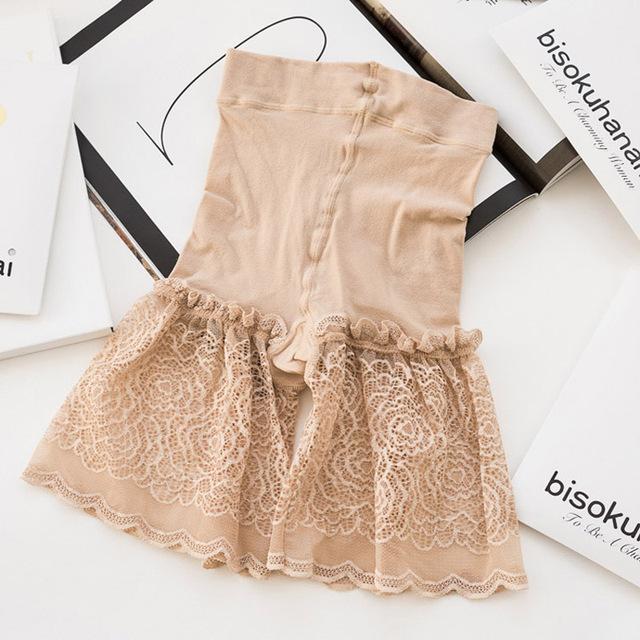 2 unids/lote Magia seguridad cordón de las mujeres delgadas pantalones cortos de cintura alta del dibujo del abdomen cuerpo delgado pantalones cortos sin costuras U1136