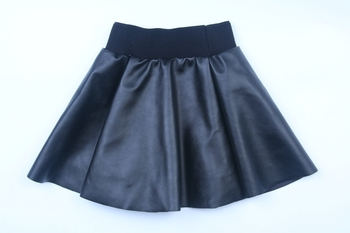 baby girls skirts little kids cute skirts girls PU skirts black and red color 2-8 Years 2018 hot sell girls fashion design skirt Baby Pants