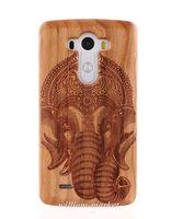 2017 Chaude Bord Naturel Sculpture En Bois Funda Elephant Bambou Bois Dur Cas de couverture Pour LG G4/G3/G2/Pour Samsung S6 Bord S7 S5 Neo
