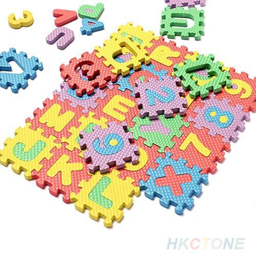36 Pcs/Set Child Kids Novelty Alphabet Number EVA Puzzle Foam Teaching Mats Toy Baby Crawling Mats Carpet Soft Floor Mats