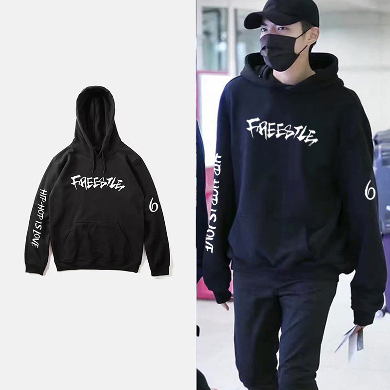 WXCTEAM EXO Kris Cotton Hoodies Sweatshirt Women Autumn Loose Fashion Harajuku Hoodies Women/Men korea Hip Hop Clothes