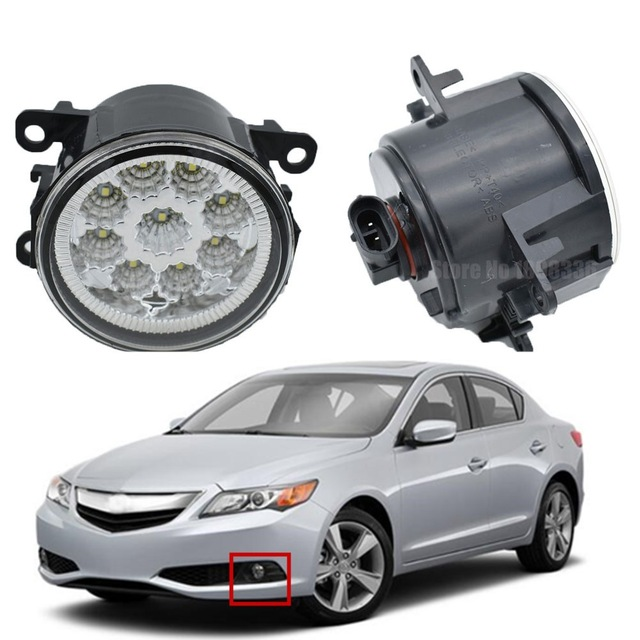 PCS Car Accessories LED Fog Light Daytime Running Light DRL Halogen - Acura ilx fog lights