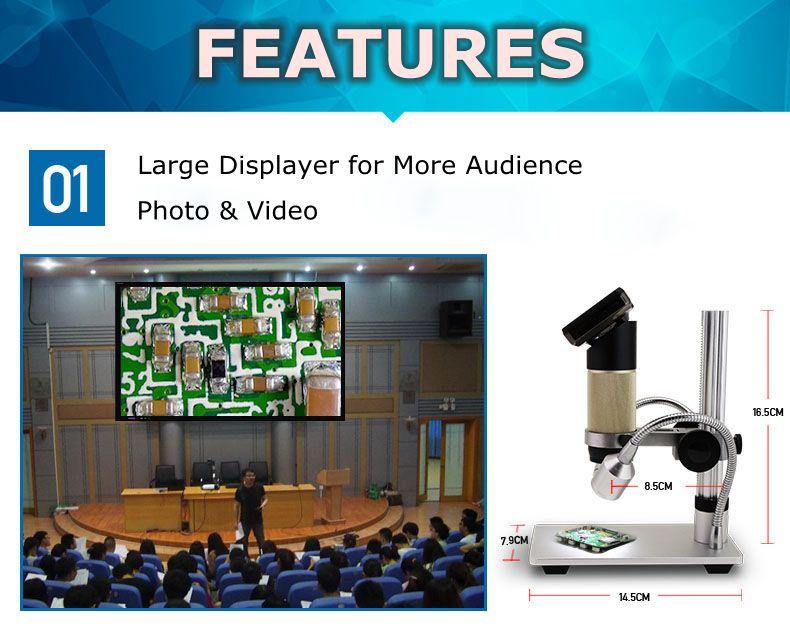 HDMI 10-300X LED šviečiantis 3,0 colių ekranas Daugiafunkcinė - Matavimo prietaisai - Nuotrauka 2