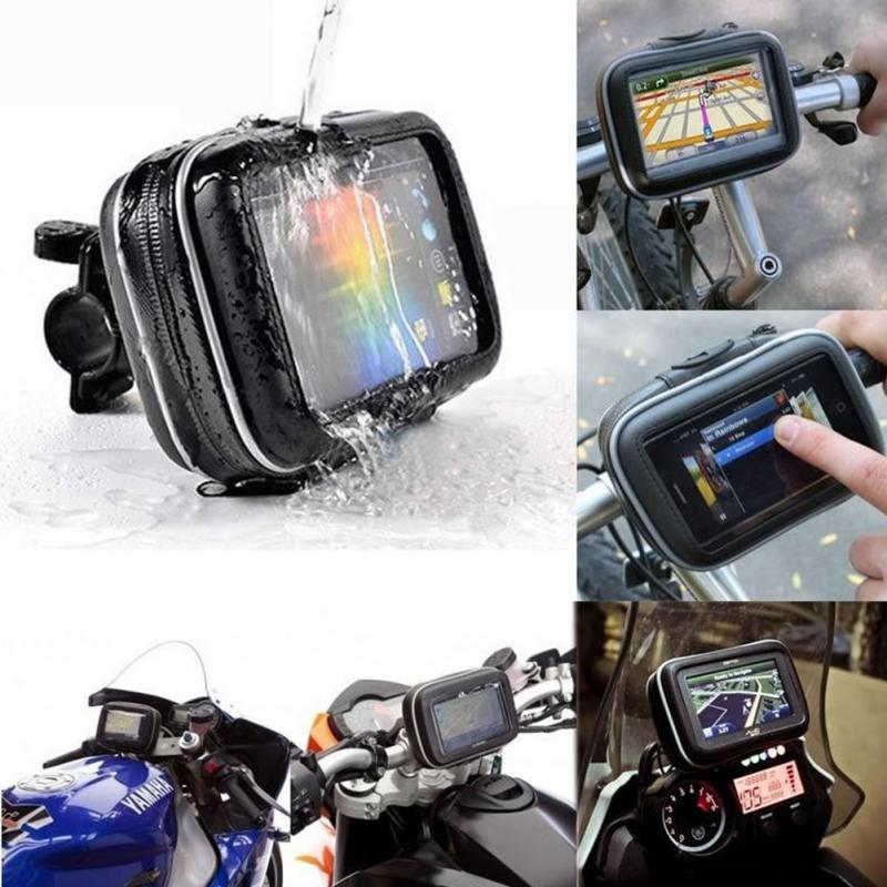 Waterproof Motorcycle Handlebar Mount Holder Case Bag GPS Waterproof Case for GPS GARMIN NUVI