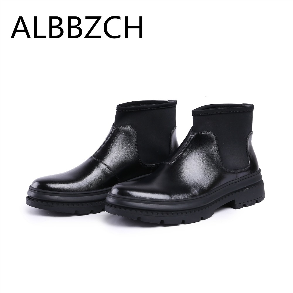 Men Boots Chelsea Genuine Leather Short Boots Mens British Style Casual Ankle Boots Shoes Round Toe Slip On Quality Work BootsMen Boots Chelsea Genuine Leather Short Boots Mens British Style Casual Ankle Boots Shoes Round Toe Slip On Quality Work Boots