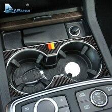 Airspeed для Mercedes Benz gls 16-18 GLE 15-17 GL 13-15 мл аксессуары из углеродного волокна автомобильный внутренний подстаканник крышка отделка наклейки