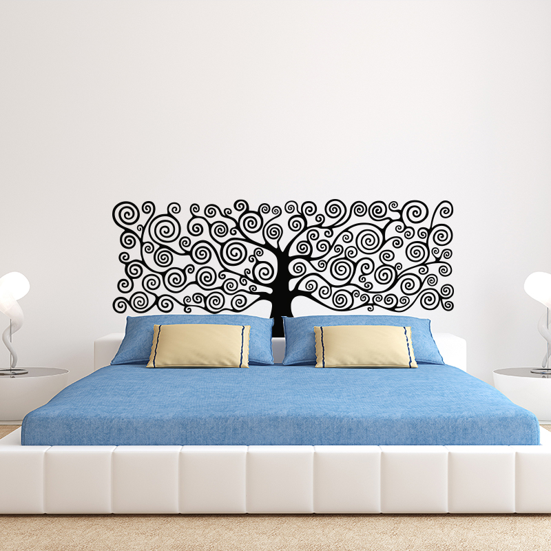 Konst Decor Tree Of Life Väggklistermärke 3D Vinyl Plant Headboards DIY Dekal House Decoration För Sovrum Kids Room