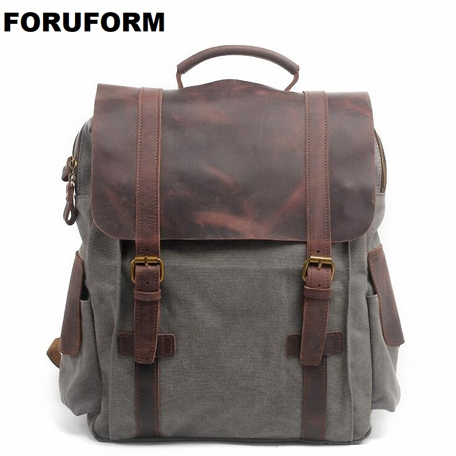 Pretty Style High Quality Men Backpack Solid Men's Travel Bags Canvas Bag Mochila Masculina Bolsa Laptop School Backpack LI-1263 women flat pom pom decor flat sandal crystal butterfly knot summer shoe cutouts sandal mixed color fur gladiator sandal