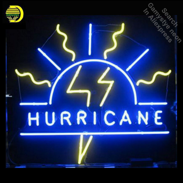 Personalized Neon Signs Simple Hurricane Neon Sign Flash Decorate Windows GLASS Tube Display