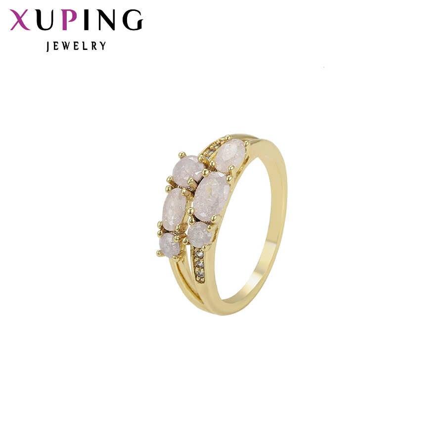 Xuping Mode Elegante Ring Licht Gelb Farbe Überzogene Nette Ring Schmuck für Frauen Valentinstag Geschenke S97-15628