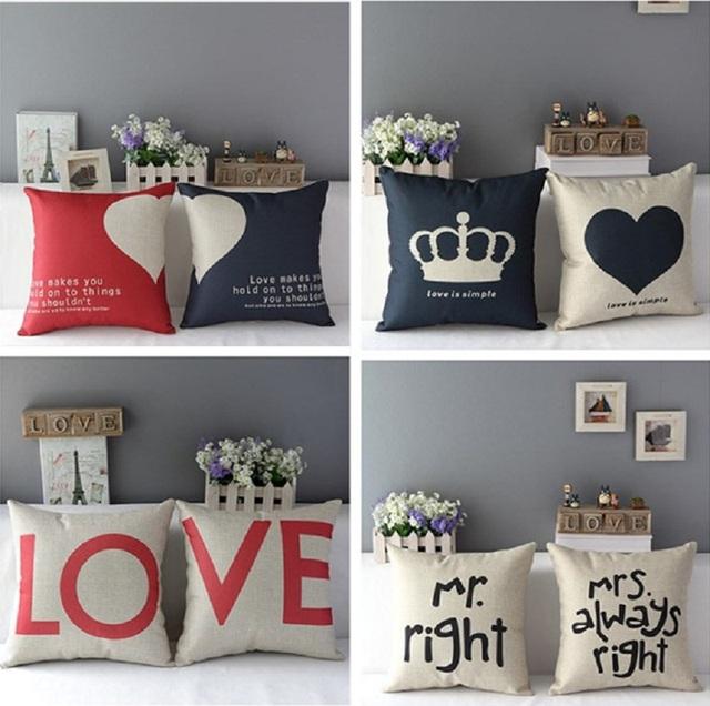 Cotton Linen Cushion Cover 1 piece – Romantic Soft Decorative Cushion case