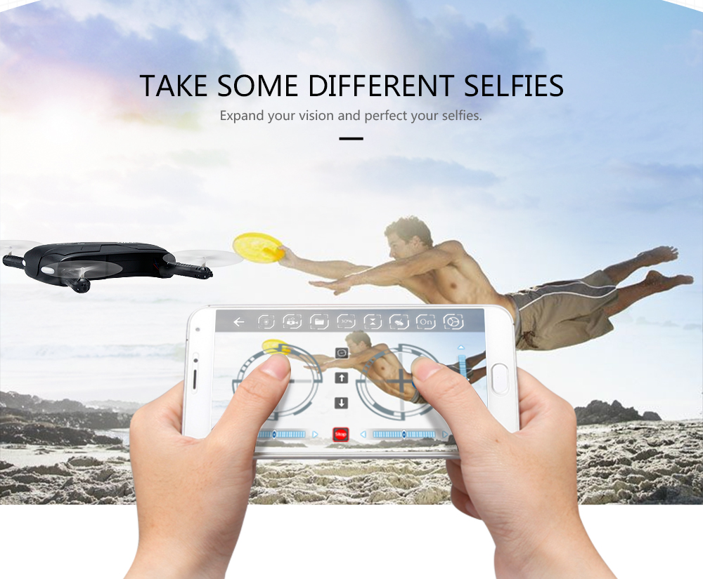 Original JJRC H37 W/ Elfie foldable Mini Selfie Drone Camera Altitude Hold FPV Quadcopter WIFI phone Control RC Helicopter Drone