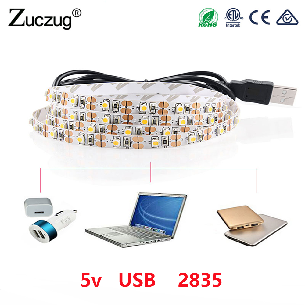 5V USB 5M led Strip none light Lamp SMD 2835 Not Waterproof Warm White Cable ledstrip lamp Decor for TV Backlight Christmas