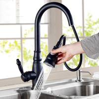 Antique kitchen faucet cold sink faucet sink faucet dark copper stretch pull bibcock