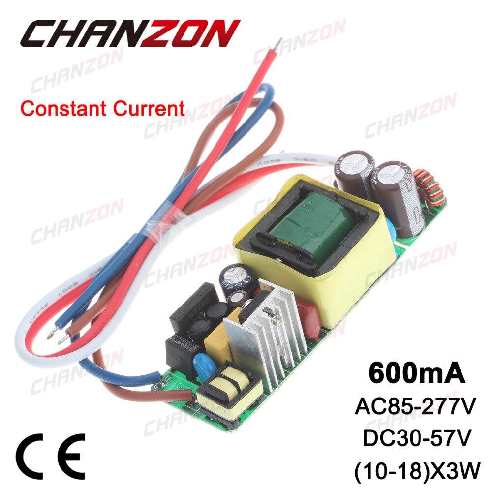 Constant Current LED Driver 600mA DC30 57V 30W 36W 45W 600 mA AC85 265V AC DC