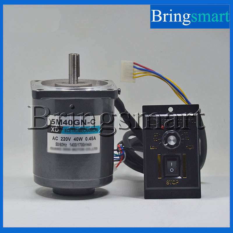Bringsmart 220v ac motor 5m40gn c high speed motor 1400 for Speed control of induction motor