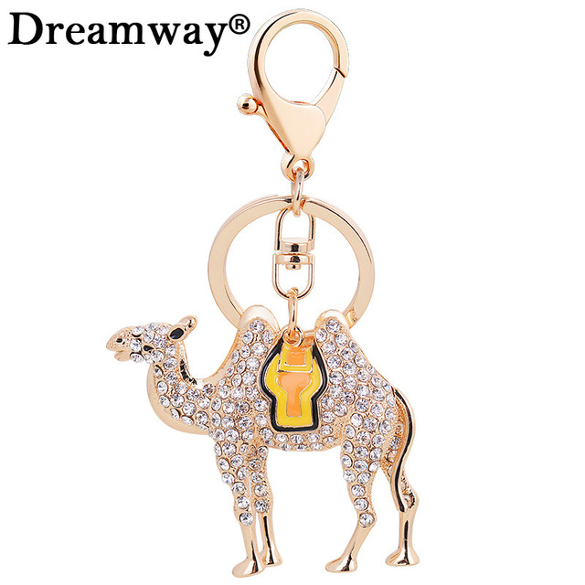 Egypt Crystal Camel Key Chain Animals Keyring Jewelry Bag Keychains for Car  Woman Men Key Ring Holder Best Gifts Drop Shipping 942d82793f