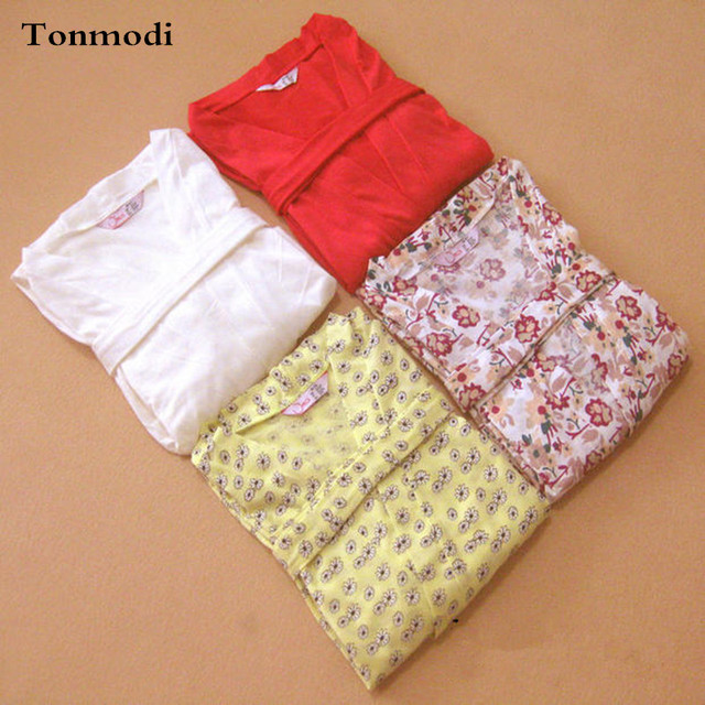 Халаты для женщин Хлопка Ночной Рубашке пижамы Гостиная с коротким рукавом мягкий халат