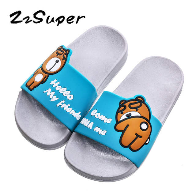 3f00e3089b9fe Online Shop ZzSuper Family Matching Shoes Summer Kids Boys Slippers  Teenager Toddler Girls Flip Flops Cartoon Bear Children Slides Sandals |  Aliexpress ...