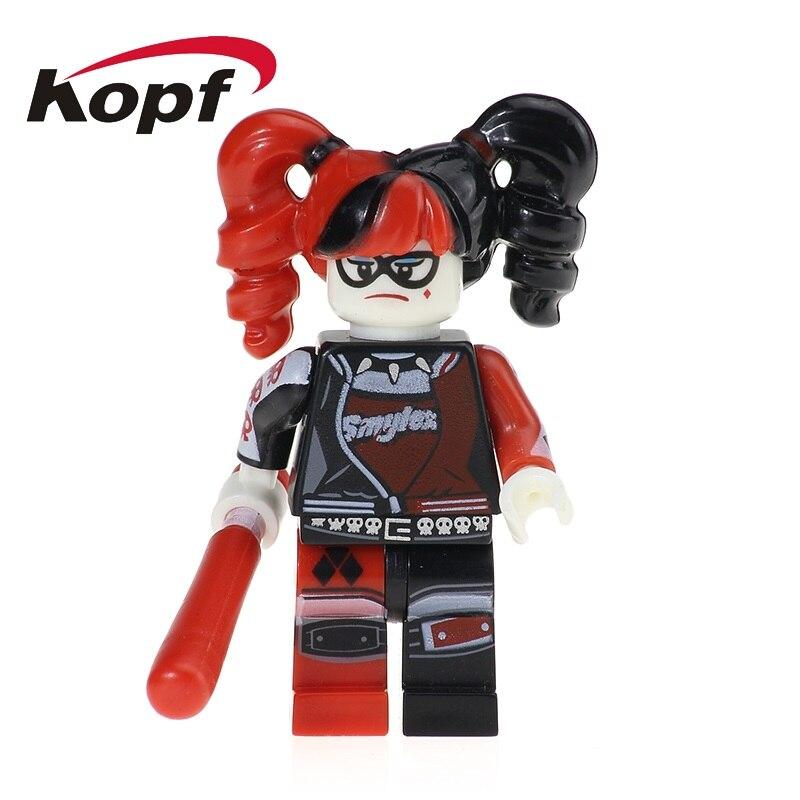 Single Sale Super Heroes Harley Quinn Catwoman Batman Robin Poison Ivy Bricks Action Building Blocks Children Gift Toys PG101