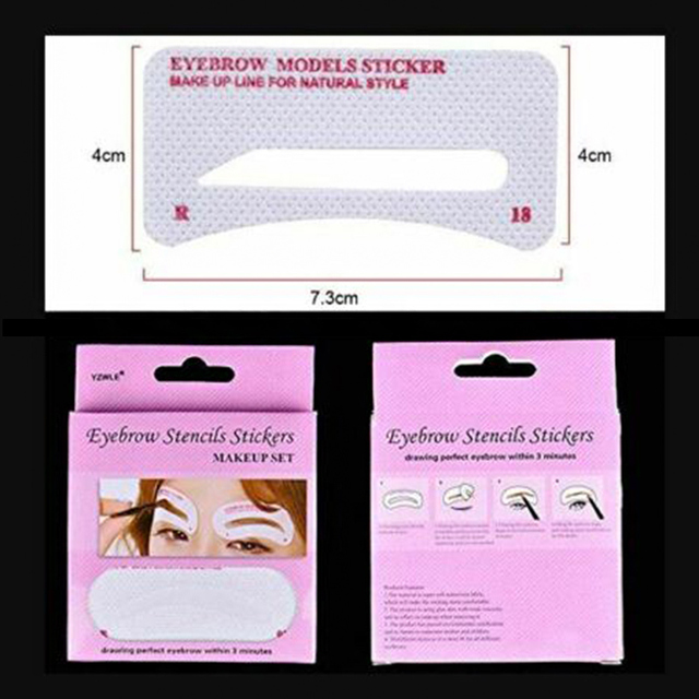 12 Pairs Eyebrow Stencil Stickers Eyebrow Drawing Card Template DIY Makeup Tools SK88 4