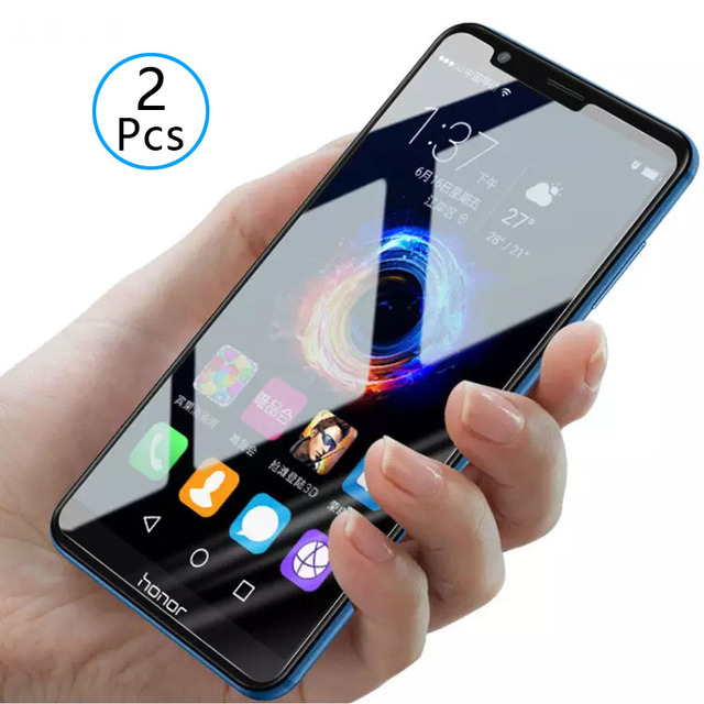 2pcs Tempered Glass For Honor 7x Protective Glass Screen Protector Phone Film Safety Tremp On For Huawei Honer Honor7x 7 X X7 9h