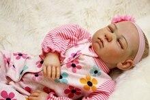 20″ bebe real reborn dolls cloth body silicone newborn baby dolls handmade fashion dolls for children gift bonecas high quality