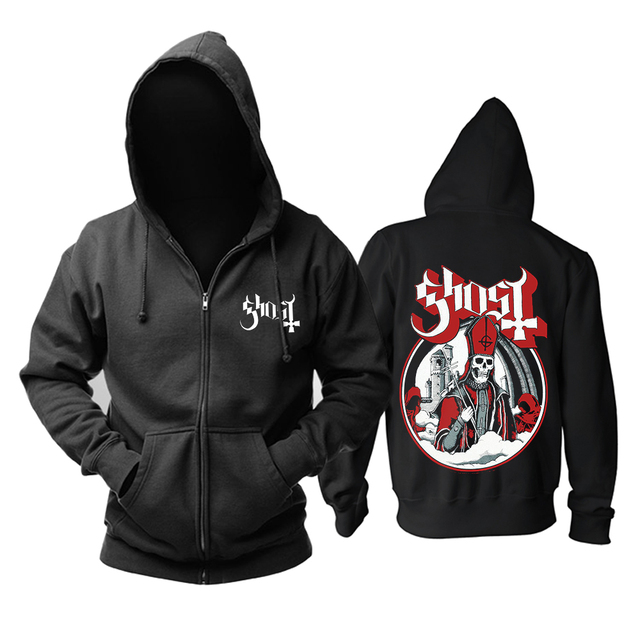 Bloodhoof Ghost  Men's Top heavy metal music cotton new Hoodie Asian Size