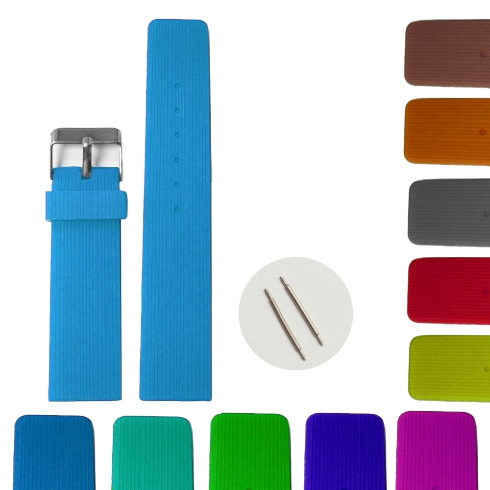 22mm Deep Sky Blue Silicone Jelly Rubber Lady Men Watch Band Straps WB1071D22JB whisky premium deep blue 90 мл parfums evaflor whisky premium deep blue 90 мл