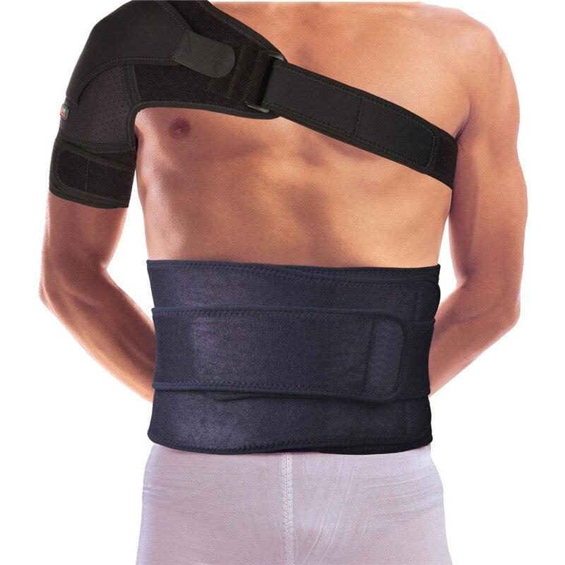 Mumian G02 4 Direction Adjustable Sports Single Shoulder Brace Support Strap Wrap Belt Band Pad - Left -Black
