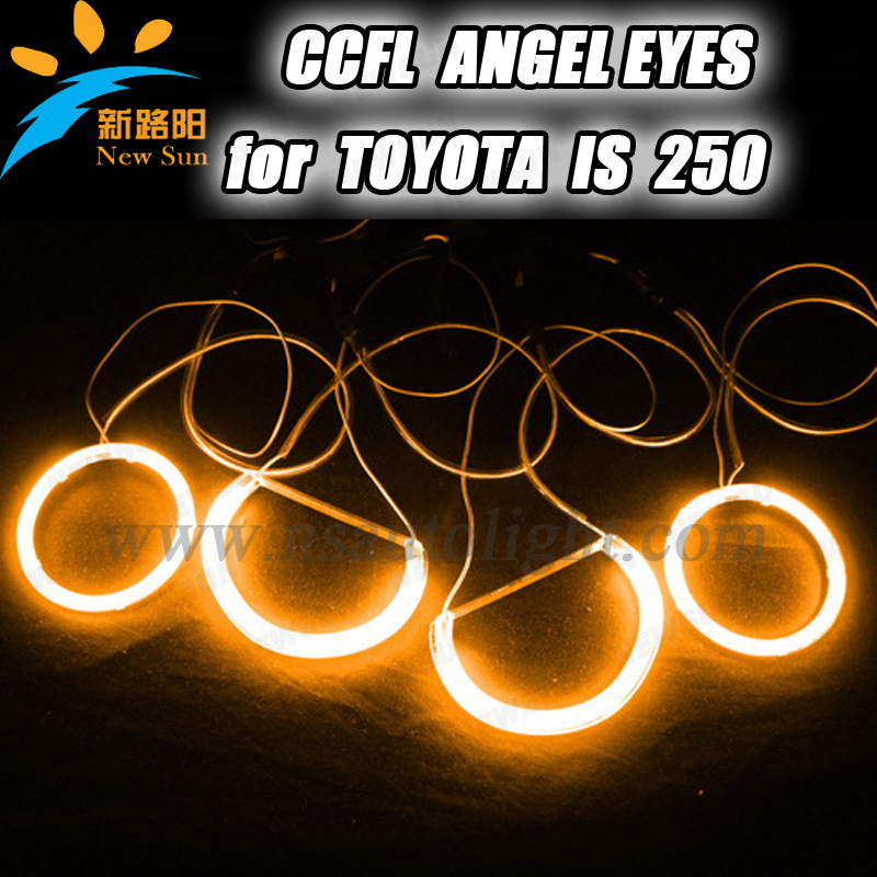 все цены на  108mm& 90mm blue yellow white purple orange red green CCFL angel eyes ring halo bulbs ccfl car head lamp for Toyota IS250  онлайн