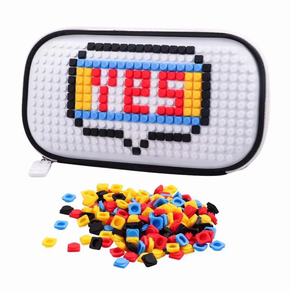 الجدة legoe لعبة الطوب مع 250 قطعة بناء كتلة بيليه للمرأة فتاة بناء كتلة الأبيض الشركات حقيبة أقلام رصاص