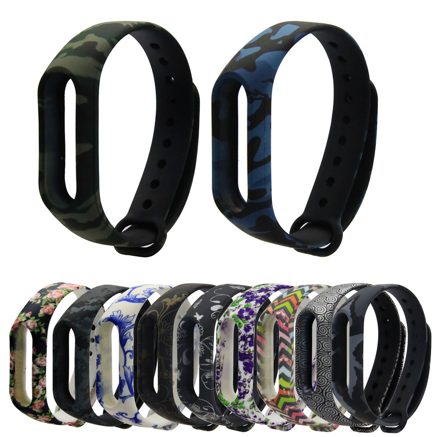 Colorful Camouflage Strap For Mi Band 2 Wristband Miband 2 Strap Bracelet Strap Replacement Smart Band Accessories For Miband 2