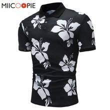 2018 New Summer Cotton Polo Shirt Men Short Sleeve Casual Polo Floral Soft Camisa Polo Shirt Tops For Men Brand Tops&Tees XXXL