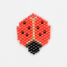 Shinus Wholesale 10Pcs/lot Miyuki Accessories Ladybug Beetle Shape Animal Beads Joyeria Handmade Pendants Diy