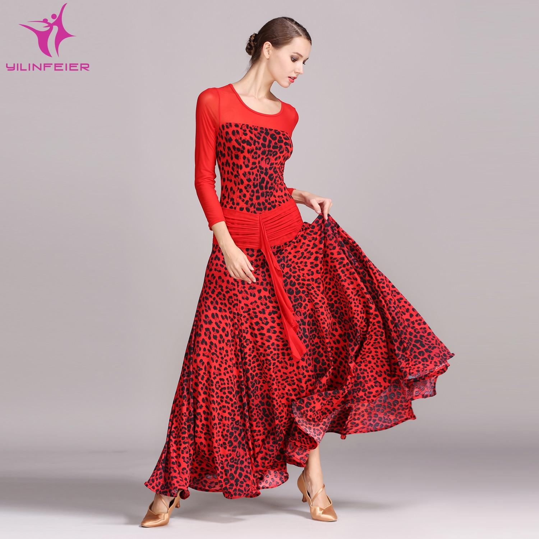 Ballsaal Party Kleid Tango Rot Modern Kostüm Abend Erwachsene Walzer w0vNnm8