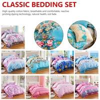 Soft Duvet Cover Flower Bed Linen Classic Bedding Set Grey Duvet Cover Duvet Cover Set Pastoral Bed Sheet Comfortable Duvet