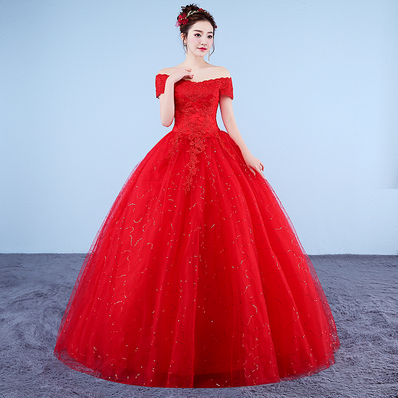 Fansmile New Vestidos De Novia Vintage Ball Gown Tulle Wedding Dress 2020 Princess Wedding Bride Dress FSM-616F