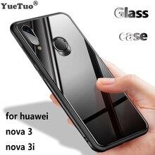 YUETUO роскошный tpu стеклянный зеркальный Телефон задняя крышка etui, чехол, чехол для huawei nova 3 nova 3 i nova 3i nova 3 аксессуары