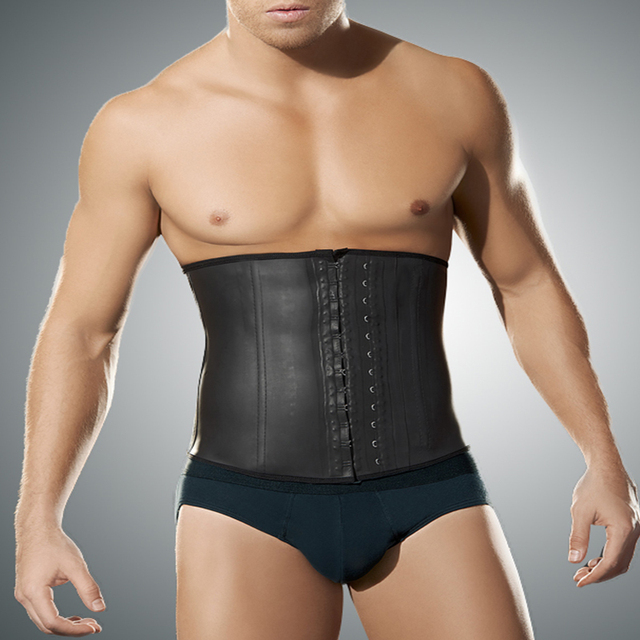 0b4d5b0d96 Faja Latex Waist Trainer For Men s Tummy Shaper 4xl 5xl Plus Size Body  Girdle Man Steel Bone Male Waist Shape Corset Underwear